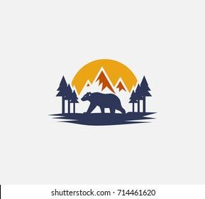 Polar logo template vector illustration