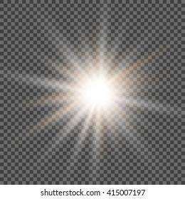 Polar Star glowing light burst. Vector eps 10 format.