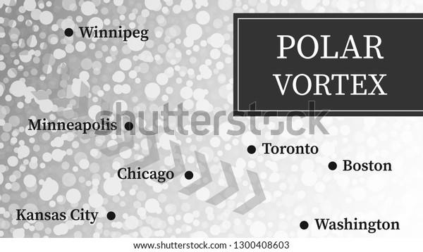 Polar Vortex 2019 Illustration Snow Slams Stock Vector