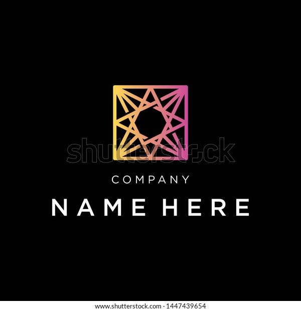 Polaris Star Monogram Vector Logo Stock Vector Royalty Free 1447439654