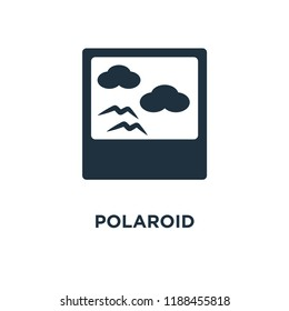 Polaroid icon. Black filled vector illustration. Polaroid symbol on white background. Can be used in web and mobile.