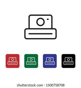 Polaroid icon - Vector diferent color. Photo concept Vector diferent color illustration.