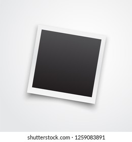 Polaroid Photo frame. Realistic old photo blank isolated on white. Vector