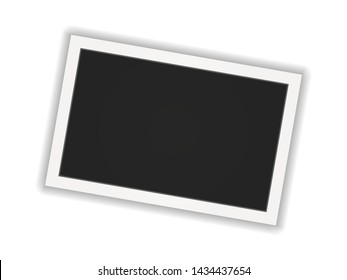 Polaroid photo frame. Square polaroid frame template with shadows isolated on white background. Vector illustration