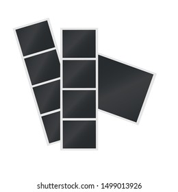 Polaroid. Set of blank photo frames. Mockup for photography and picture. Polaroid photo frames. Template.