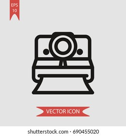 Polaroid vector icon, illustration symbol