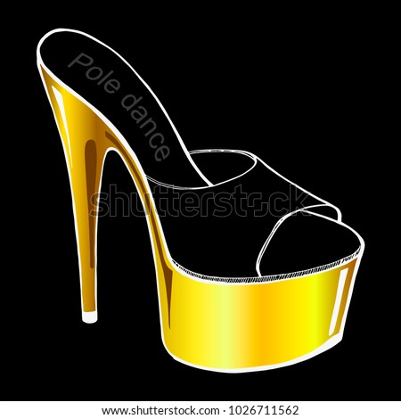 a4b399212915 Pole Dance Stripper Shoes Clubbing High Stock Vector (Royalty Free ...