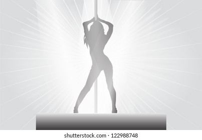 pole dancer background