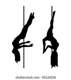 pole dancer silhouettes
