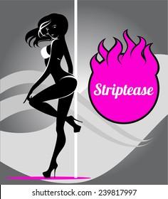 Pole dancer, striptease