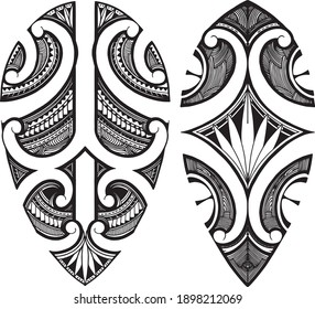 Polenesian samoa tattoo desing vector