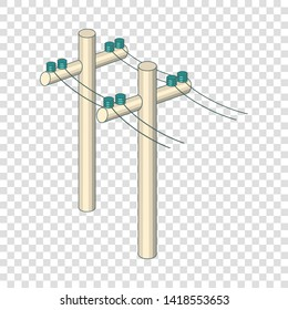 poles with wires icon  cartoon illustration of poles with wires vector icon  for web