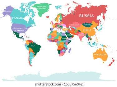 Polical map of the World. Vector illustration