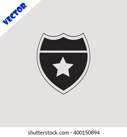 Police badge icon.