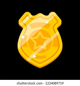 Police badge isolated. Police officer sign. Vector illustration