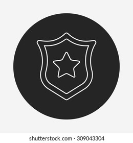 police badge line icon