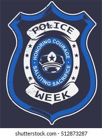 Police badge Typography, Tshirt design, vector art, layered Eps 10