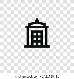 police box icon from miscellaneous collection for mobile concept and web apps icon. Transparent outline, thin line police box icon for website design and mobile, app development