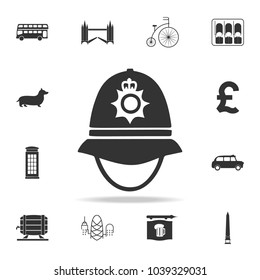 police cap in England icon. Detailed set of United Kingdom culture icons. Premium quality graphic design. One of the collection icons for websites, web design, mobile app on white background