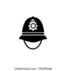police cap in England icon. Element of United Kingdom culture icons. Premium quality graphic design icon. Signs, outline symbols collection icon for websites, web design, mobile app white background