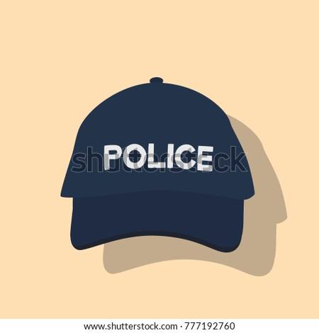 ca8d32e3210 Police Cap Icon Vector Illustration Design Stock Vector (Royalty ...