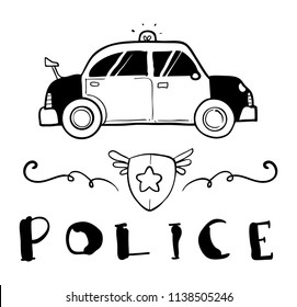 police car drawing