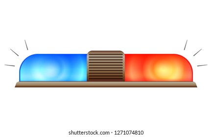 Police car flasher icon. Cartoon of police car flasher vector icon for web design isolated on white background