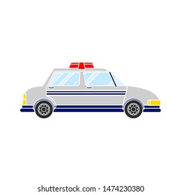 police car icon. flat illustration of police car vector icon. police car sign symbol