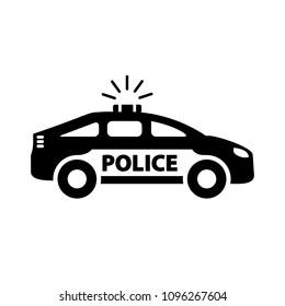 Police car icon. Vector.