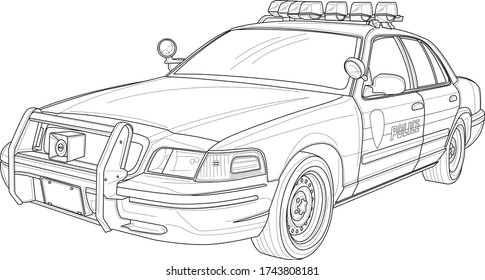 Policeman Coloring Page High Res Stock Images Shutterstock