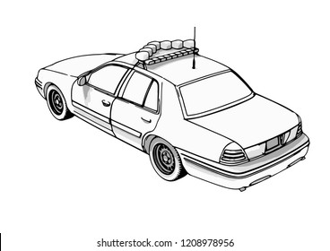 royalty free police car front view images stock photos vectors Chevy Police Vehicles police car vector