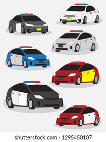 Police car vector and illustration