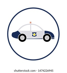 police cars icon. flat illustration of police cars vector icon. police cars sign symbol