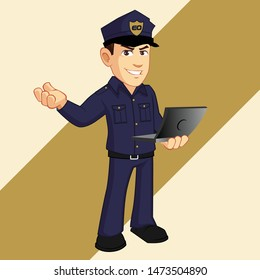 police character mascot design template