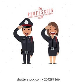 police character - vector illustration