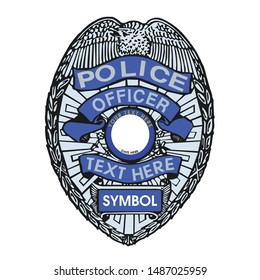 Police department Badge design illustration, Sheriff Police Officer Badge design - VECTOR