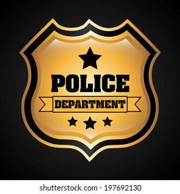 Police design over black background, vector illustration