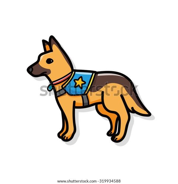 Police dog doodle