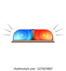Police flasher icon. Cartoon of police flasher vector icon for web design isolated on white background