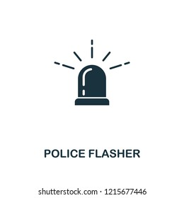 Police Flasher icon. Premium style design from security collection. UX and UI. Pixel perfect police flasher icon for web design, apps, software, printing usage.