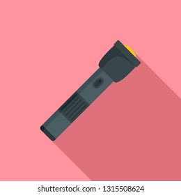 Police flashlight icon. Flat illustration of police flashlight vector icon for web design