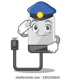 Police hard drive in shape of mascot