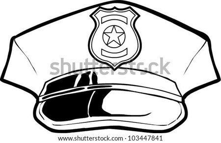 Police Hat Stock Vector Royalty Free 103447841