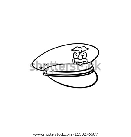 Police Hat Hand Drawn Outline Doodle Stock Vector Royalty Free