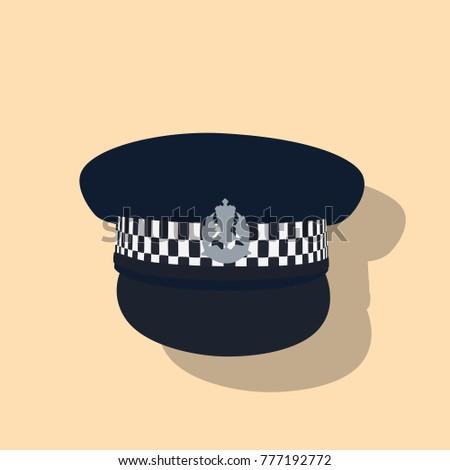 357d4c58c7c Police Hat Icon Vector Illustration Design Stock Vector (Royalty ...