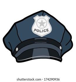 POLICE HAT ILLUSTRATION VECTOR