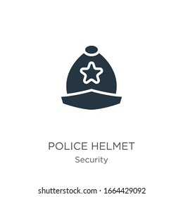 Police helmet icon vector. Trendy flat police helmet icon from security collection isolated on white background. Vector illustration can be used for web and mobile graphic design, logo, eps10