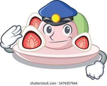 Police ichigo daifuku in the character fridge