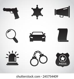 Police icon collection. Vector art.