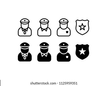 Police Icon Design Vector Symbol Officer Law